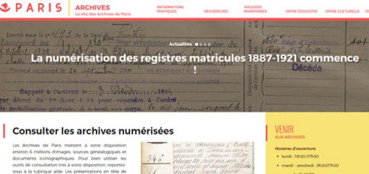 numérisation des registres matricules 1887-1921 de Paris