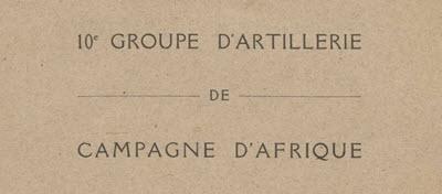10e groupe d'artillerie de campagne d'Afrique