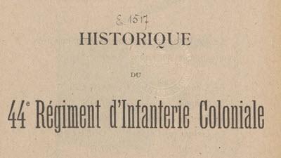 44e régiment colonial