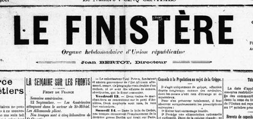 Le Finistère 1918 - Grippe Espagnole