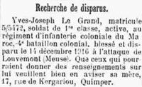 Le Grand Yves Joseph 1919