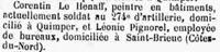 Le Hénaff Corentin 1919